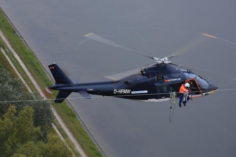 Vogelschutz aus dem Hubschrauber