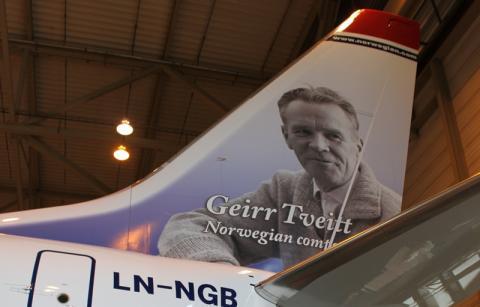 Bergens halehelt, Geirr Tveitt, pryder Norwegians nyeste fly