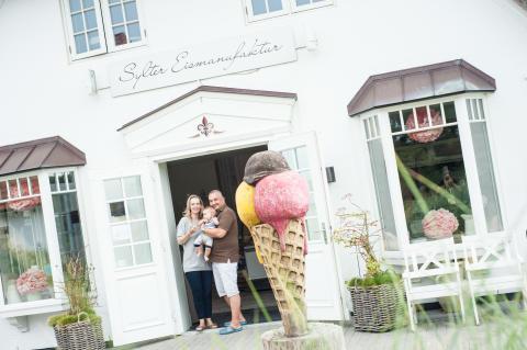 Die Eismacher-Familie: Kathrin, Detlef und Tim Fügeisen