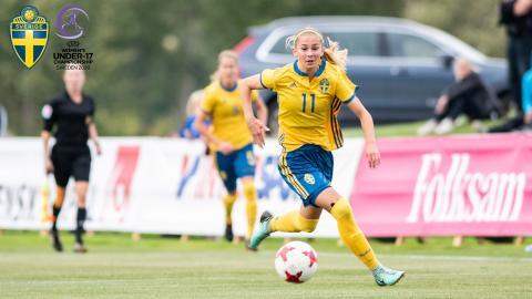 Halmstadtjej med i laguppställning inför För-EM i fotboll på hemmaplan