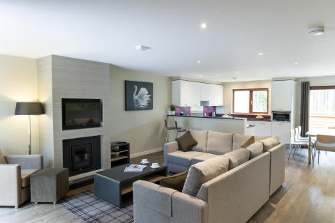 Four Bedroom Executive Lodge Living Space Woburn Forest