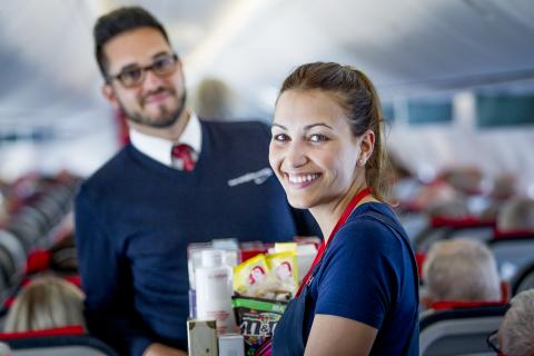 Norwegian Cabin Crew on board Boeing 737-800