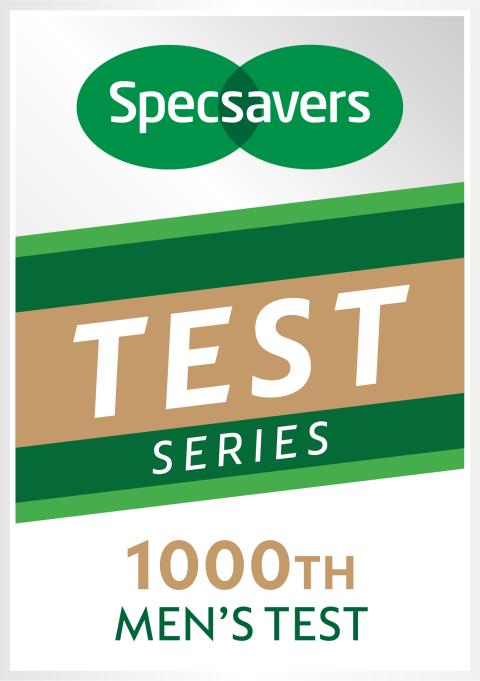 Specsavers 1000th Men's Test logo