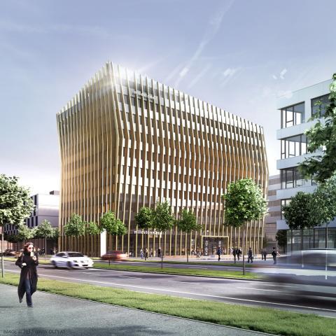 Freiburger BUSINESSMILE weiter auf Erfolgskurs: STRABAG Real Estate bringt Alcon Pharma, Autobahn und Prognos ins MILESTONE 2