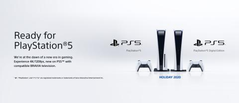 Η Sony ανακοινώνει ότι οι τρέχουσες σειρές τηλεοράσεων BRAVIA™ είναι ιδανικές για το PlayStation®5
