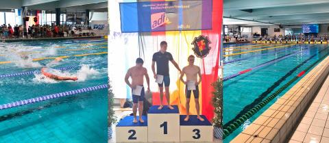 Wirtschaftsingenieurstudent der TH Wildau holte dreimal Gold und einmal Silber bei der Deutschen Hochschulmeisterschaft im Schwimmen