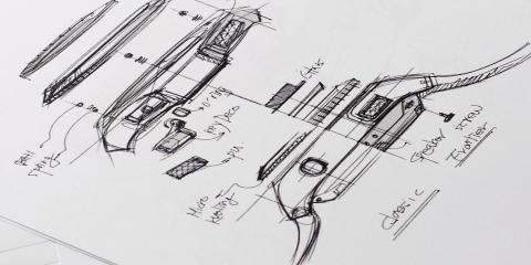 Gear S3 design sketch