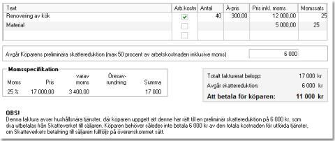 Husavdrag i Vismas småföretagarprogram