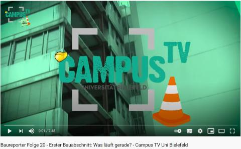 Es geht voran auf der ZÜBLIN-Baustelle Uni Bielefeld (Video)