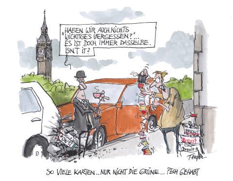 DA Direkt Karikatur_Brexit_Besonderheiten für Kfz-Haftpflichtschutz_