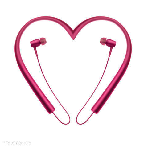 Fotomontaje Auriculares Hear.on san valentín