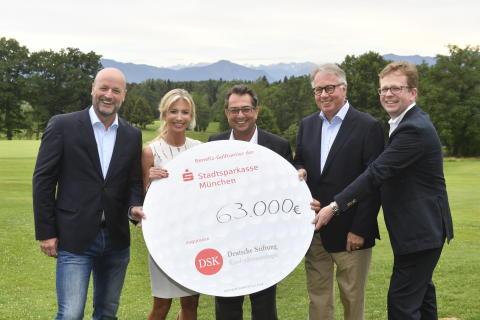 Benefiz-Golfturnier der Stadtsparkasse München bringt 85.000 Euro für die Deutsche Stiftung Kinderdermatologie von Gründerin Dr. Nicole Inselkammer