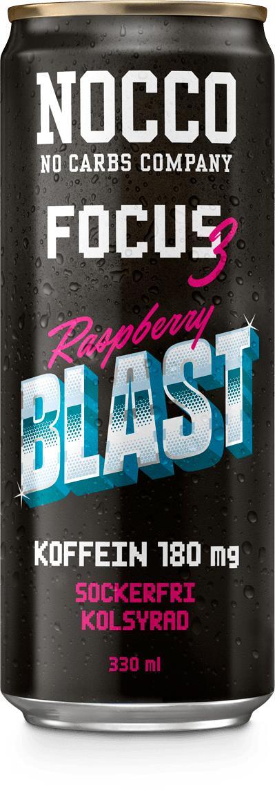 NOCCO Focus 3 Raspberry Blast