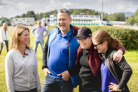 Hest360FordChallenge Ryggekonkurranse Per Gunnar Berg, Märtha Louise sammen med Anne Lene Øysæd og Jeanette Vagle fra Sandnes, Rogaland.