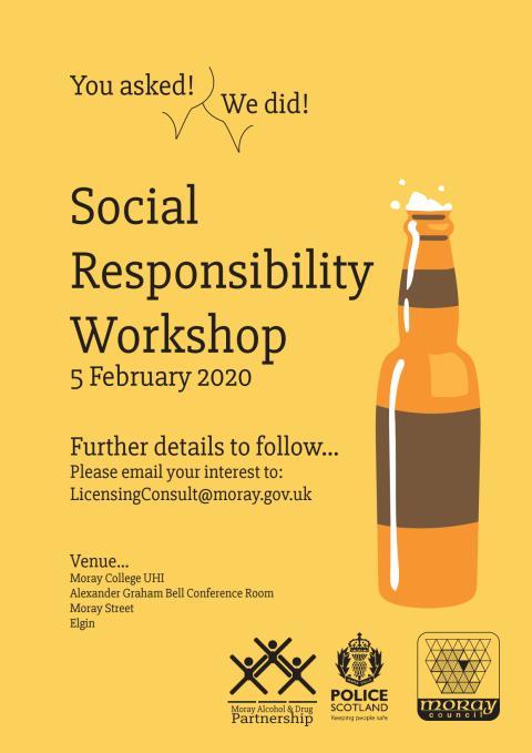 Social responsibility workshop for licensed premises staff
