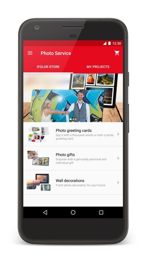 Photo Service -sovellus Androidille