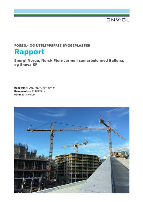 Rapport: Fossil- og utslippfrie byggeplasser