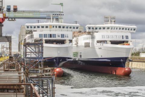 Scandlines' nye skibe ud af tørdok