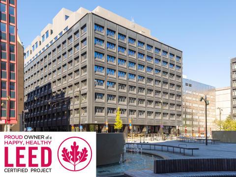 Stena Fastigheter certifierar med LEED guld i Stockholm city