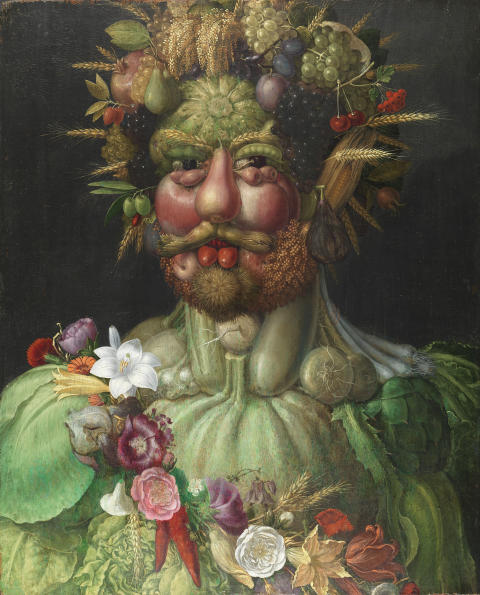 Kejsar Rudold II som Vertumnus