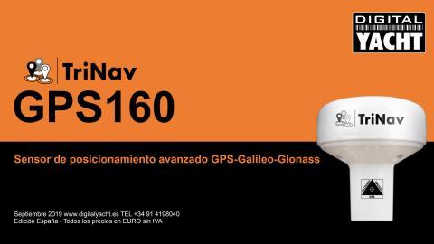 TriNav GPS160, un nuevo sensor de posicionamiento de alto rendimiento que utiliza GPS, Glonass y los nuevos sistemas de satélites Galileo.