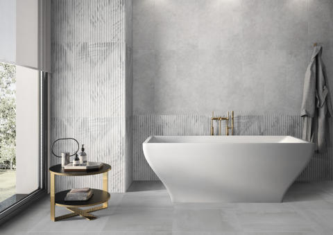 New Tiles for 2020 by Villeroy & Boch  -  OMBRA: The shadows of delicate leaves and intriguing light effects - Timeless wall concept with exquisite 3D décor