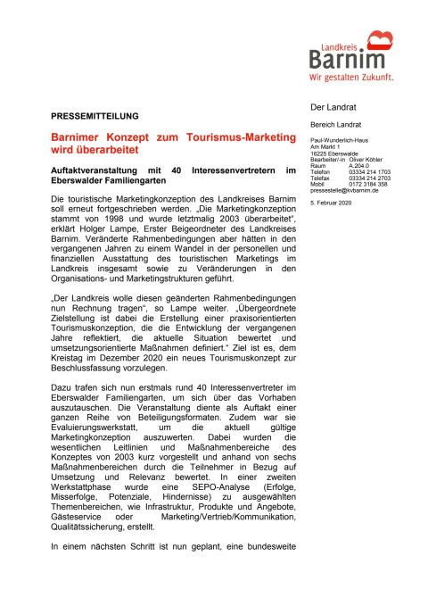 Barnimer Konzept zum Tourismus-Marketing wird überarbeitet