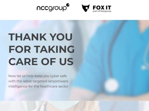NCC Group offers free cyber threat intelligence to global healthcare providers