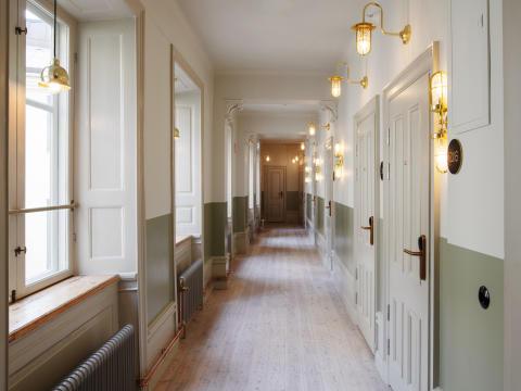 Hotellkorridor på Hotel Frantz