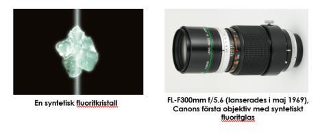 Canon firar 50-årsjubileum för objektiv som använder syntetisk fluorit