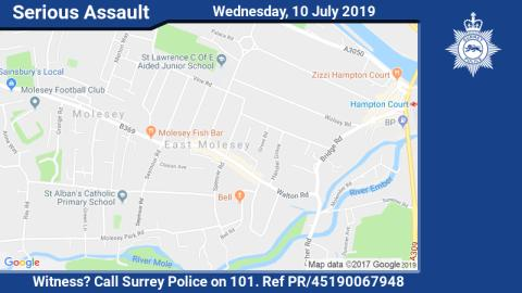 Witness appeal following serious assault at East Molesey restaurant