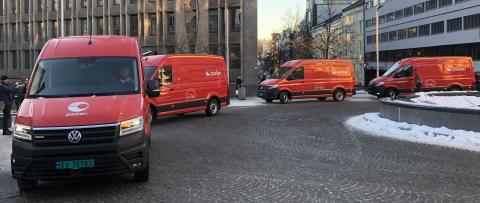 Posten med nye elvarebiler til julepakkene