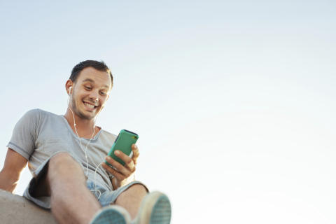 Smart mobilapp visar vägen