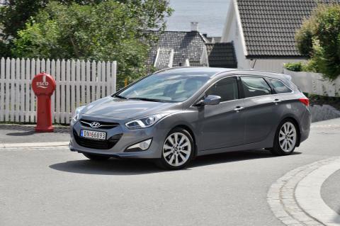 Hyundai i40 i Larviks gater