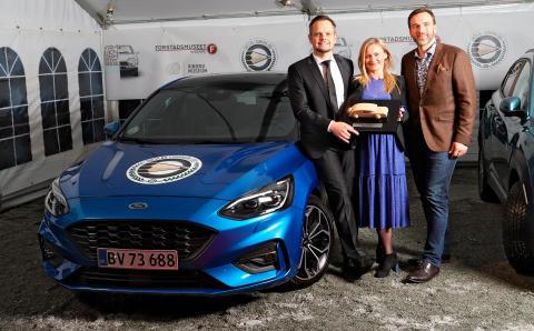 Ford Focus er Årets Bil i Danmark 2019 – en sikker sejr til Fords nye familiebil