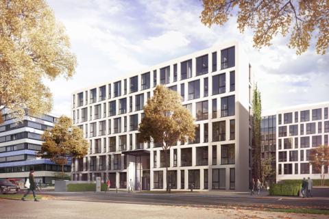 ZÜBLIN headquarters in Stuttgart grows: start of construction for STRABAG Real Estate project development at Albstadtweg