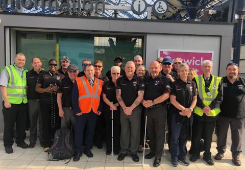 Blind Veterans UK Brighton visit with Station Manager Daniel Sands