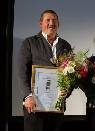 PG Nilsson fick priset Årets byggnadsvårdare för sitt engagemang i kvarteret Sperlingens backe vid Stureplan i Stockholm.
