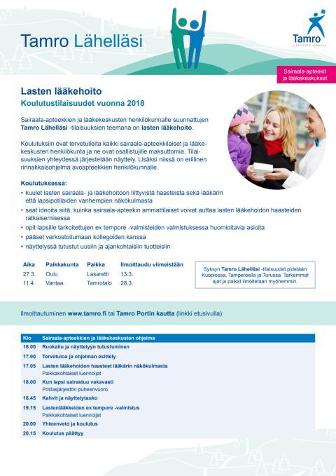 Ohjelma, sairaala-apteekit, kevät 2018