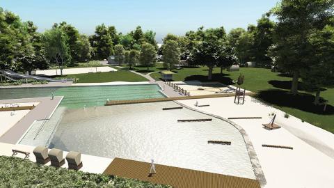 Visualisierung des NaturSportBads Bad Düben, das am 24. Mai 2019 eröffnet wird