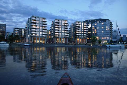 Visjonen for Verket har hele veien vært en fremtidsrettet, grønn, kulturell og urban utvidelse av Moss sentrum.
