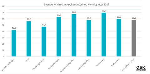 SKI kundnöjdhet myndigheter 2017