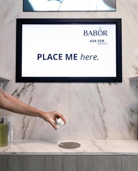 BABOR Brand Store & Treatment Lounge först ut i Sverige med digital inspiration genom Lift & Learn teknologin