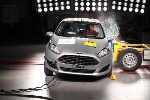 Ford Fiesta har blitt tildelt 5 stjerner i Euro NCAP
