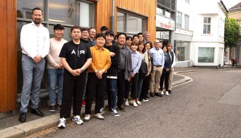 Delegasjon fra Sør-Korea