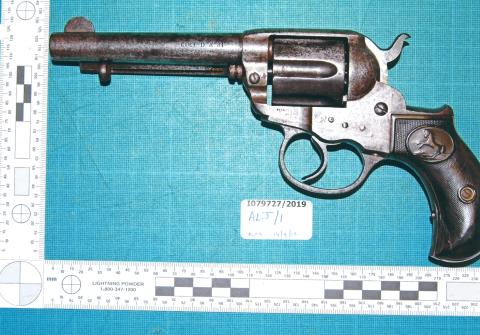 Six men convicted after revolver recovered by officers