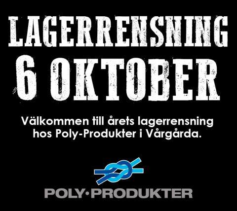 Lagerrensning i Vårgårda 6 oktober