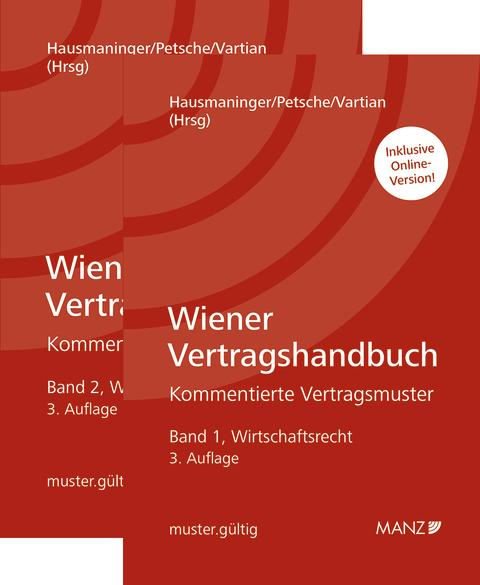 Neu bei MANZ: Wiener Vertragshandbuch für Juristen in zwei Bänden