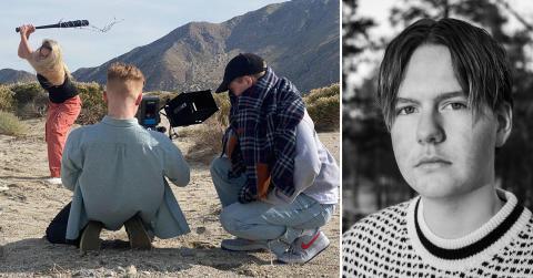Peter: – Vips så var vi på vei for å skyte musikkvideo i ørkenen i Palm Springs