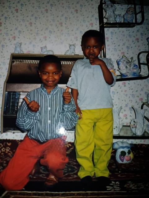 Yaya Mbye Sankareh (left) and his younger brother